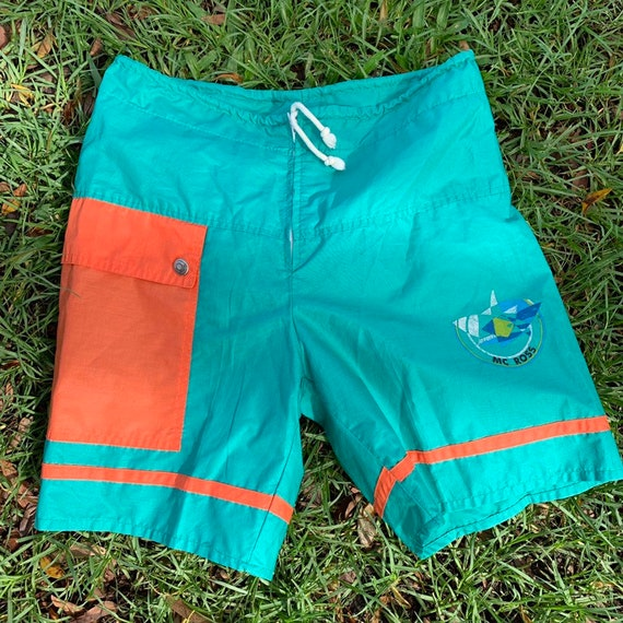 Vintage 70s Men's Board Shorts Swim Trunks