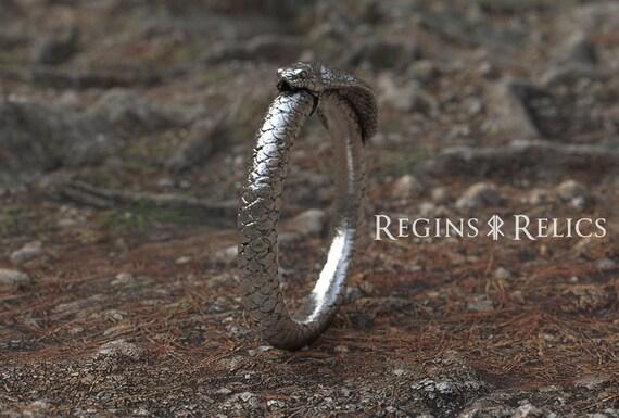 Cobra Bangle 925 Sterling Silver irish snake Bracelet Bangle handmade Jewelry