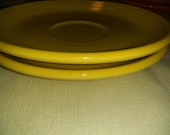 Set of 2 Fiestaware Saucers. Choice of Colors. Homer Laughlin Made in USA