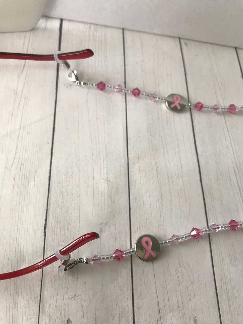 Mask Lanyard, Lanyard Breast Cancer Awareness Office Accessories Reading Glasses Chain Mask Holder Eyeglass Chain Teacher Gift