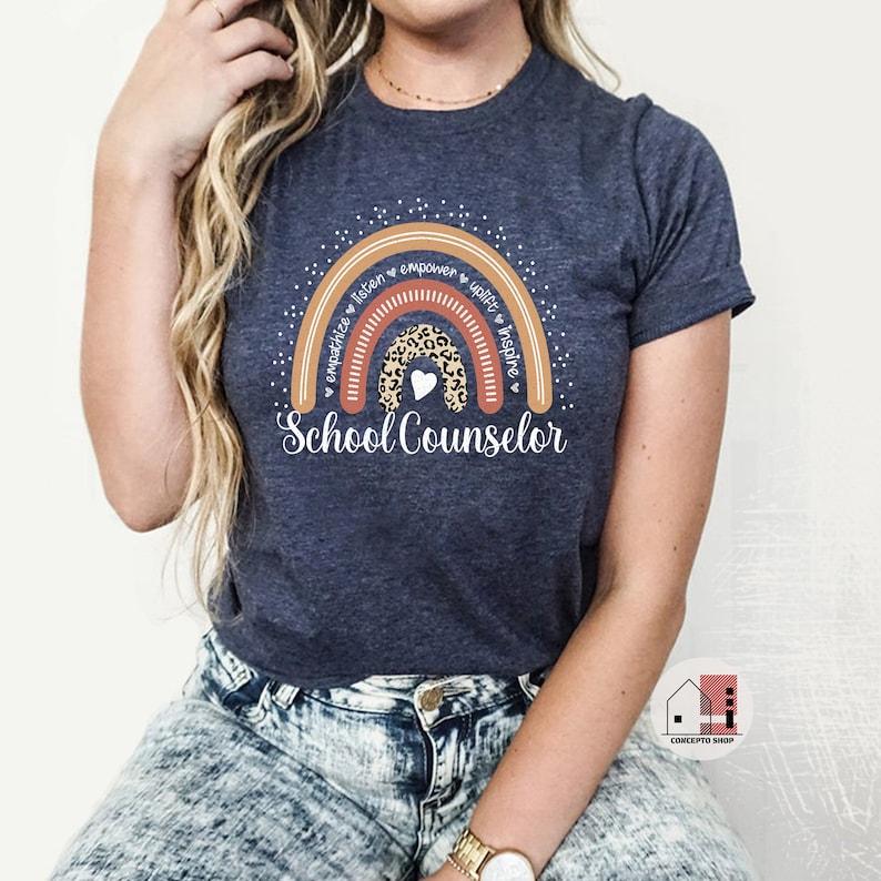 School Counselor Shirt School Counselor Tee Counselor Shirt Heather MidnightNavy