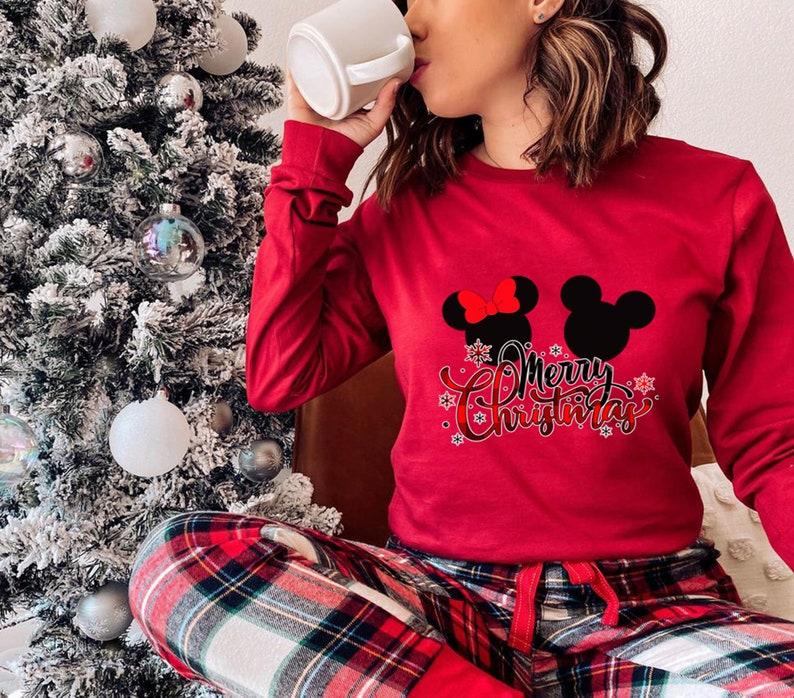 Christmas Gift Minnie Long sleeve Shirt Christmas Disney Shirt Christmas Long Sleeve Tee Mickey Long sleeve Shirt Merry Christmas