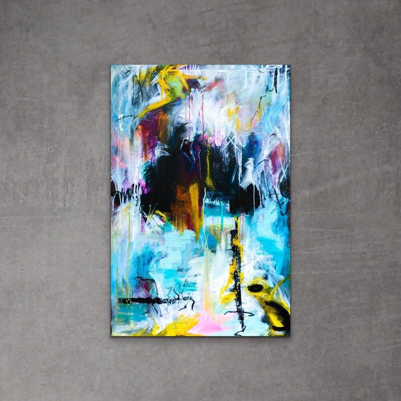 Mixed Medium Art Original Abstract Painting Unique Home image 0