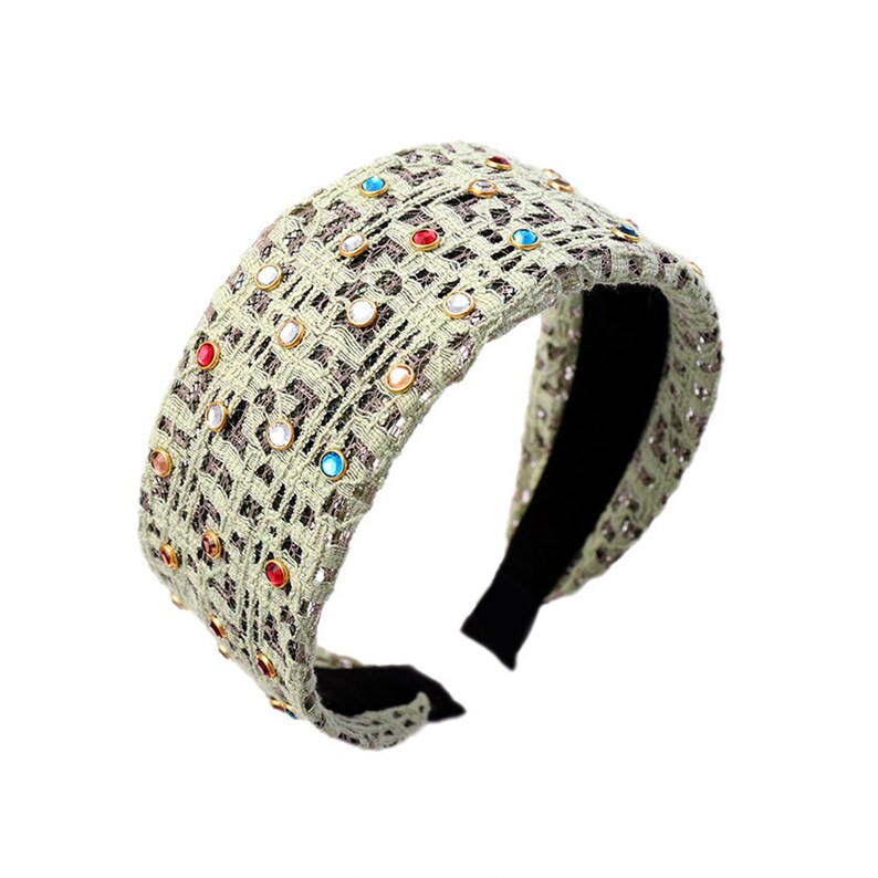 Multi Beads headband,girls headband Lace headband,colourful rhinestones Headbands for women,wide headbands,gauze headband