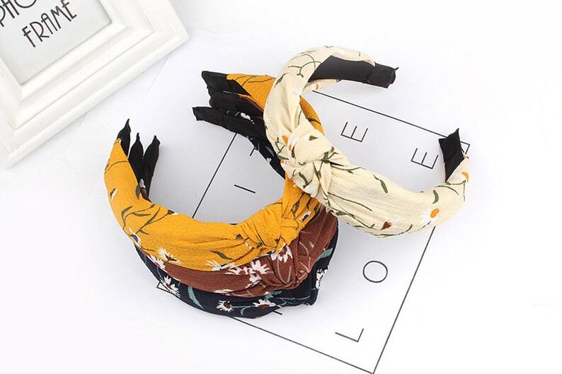 Chrysanthemum Headbands for women,Beautiful print knotted headband,wide headbands for women,Adult headband woman,summer Headbands