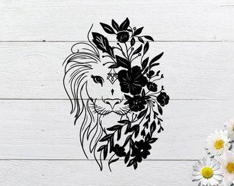 Boho Lion Svg Etsy