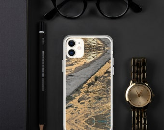 Custom iPhone Case-Abstract-Street Photo-Gold River Bank Spain-Wanderlust Gift-Designer Protective Case Idea-For Him-For Her-For Students