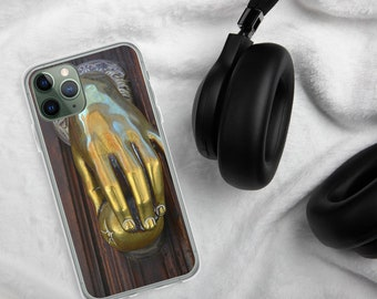 Custom iPhone Protective Case-Street Photo-Gold Hand Knocker-Spain-Designer iPhone Accessory-Wanderlust Gift Idea-For Him-For Her-Students