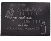 individually engraved slate plate with rubber feet   coasters, cake plate, decoration