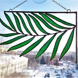 Dark Violet Feather Suncatcher  Feather Stained Glass  Window Hangings  Suncatcher for outdoor  Feng Shui Decor  Birthday Gift