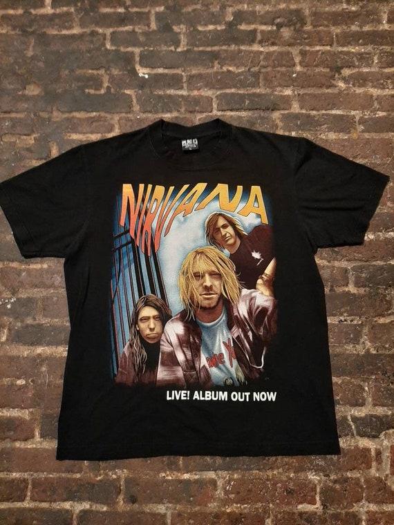 Nirvana vintage t-shirt Live Album Out Now