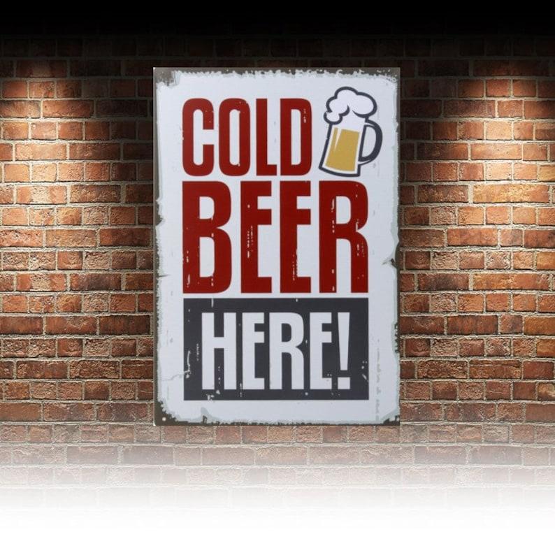 Bar// Pub man cave Retro metal Aluminium Sign vintage Ice Cold Beer