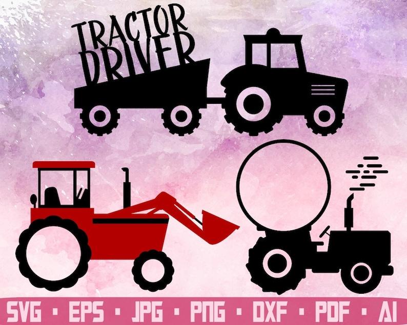 Farm tractor Red farm tractor Tractor svg Farm svg Farm tractor svg Tractor clipart Tractor cricut files eps