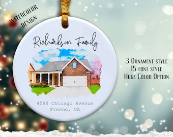 CUSTOM Home* My First Home* Ornament