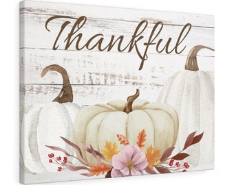 "Fall Canvas wall art ""Thankful"""