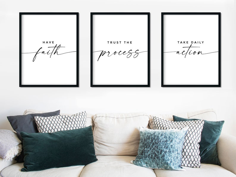 Inspirational Wall Art Prints For Office Decor Set of 3 image 0