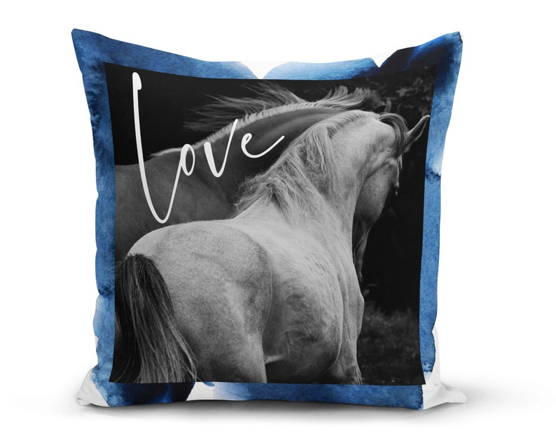 Horse Pillow Cover For Equestrian Gift Horse Decor Or Gift image 0