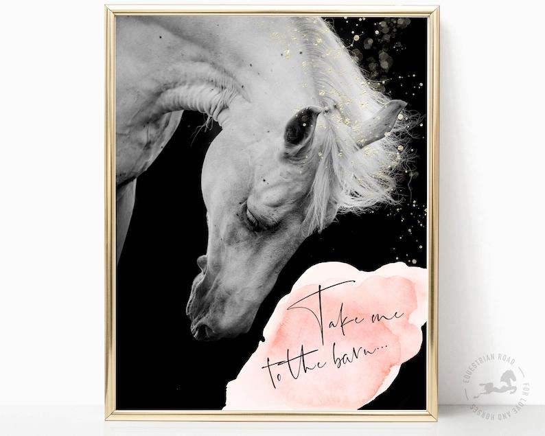 HORSE PRINT horse photography bedroom art horse wall art image 0
