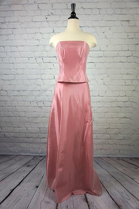 Vintage Dress | Michaelangelo Dusty Rose, Two Piec