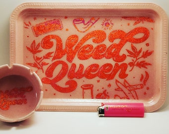 Weed Queen Rolling Tray|420|Stoner Accessory