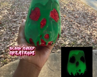 Disney Inspired Snow White Poison Apple Glow in the Dark Tumbler Cup