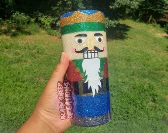Christmas Nutcracker Glitter Ceramic Hogg Tumbler Coffee Cup