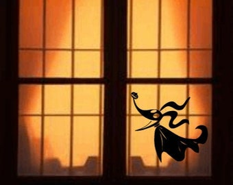 Disney's Nightmare Before Christmas Inspired Zero Ghost Dog Window/Wall Decal