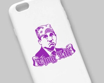 The Office Inspired Prison Mike Thug Life Adhesive Vinyl Decal