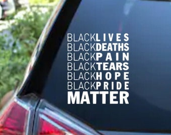 Black Lives Matter Adhesive Vinyl Decal