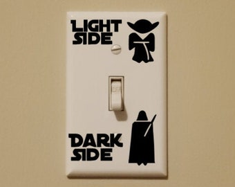 Star Wars Inspired Light Side Dark Side Light Switch Wall Decal