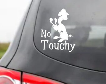 Disney Inspired Emperor's New Groove Kuzco LLama No Touchy Adhesive Vinyl Decal