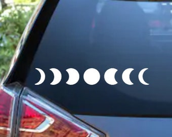 Phases of the Moon Adhesive Vinyl Decal