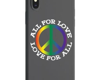 LGBTQ All for Love Love For All Adhesive Vinyl Decal