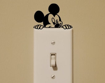 Disney Inspired Mickey Mouse and Minnie Mouse Light Switch Wall Decal