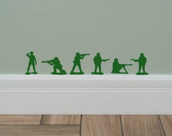 Disney Inspired Toy Story Army Men Toy Soldiers Baseboard Wall Decal