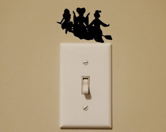 Disney Inspired Hocus Pocus Sanderson Sisters Light Switch Wall Decal