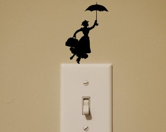 Disney Inspired Mary Poppins Light Switch Wall Decal