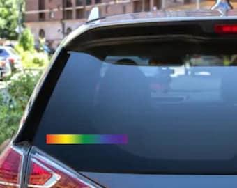 Rainbow LGBTQ Pride Car Rear Window/Bumper Sticker Decal
