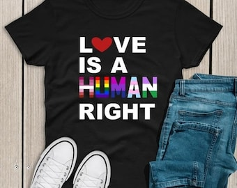 Love is a Human Right Pride Adult Graphic Tee
