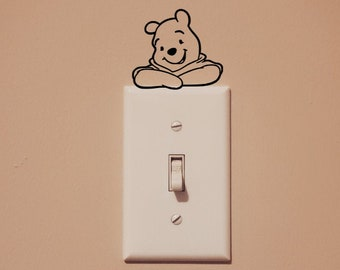 Disney Inspired Winnie the Pooh and Friends Light Switch Wall Decal