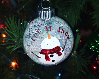 Let It Snow Snowman Christmas Tree Ornament