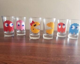 Pac-Man Inspired Shot Glasses