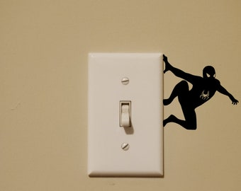 Spiderman Light Switch Wall Decal