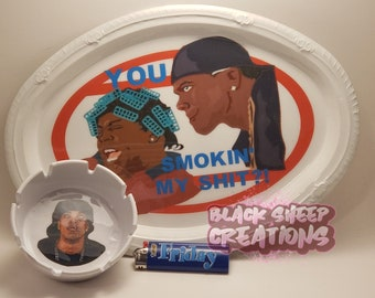 Friday Inspired Big Worm and Smokey You Smokin My Shit?! Rolling Tray