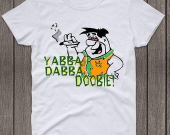Yabba Dabba Doobie 420 Stoner Unisex Adult Graphic Tee