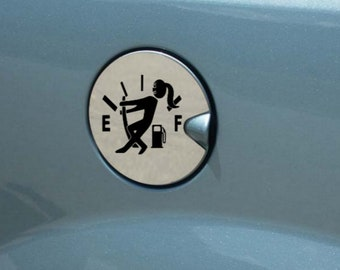 Out of Gas Car Gas Tank Cover Sticker Decal