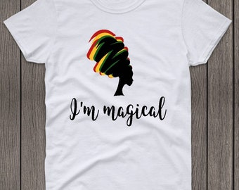 I'm Magical Black History Month Unisex Adult Graphic Tee