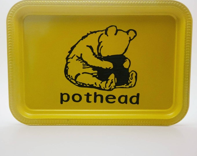 Featured listing image: Winnie the Pooh Bear Pothead 420 Stoner Weed Rolling Tray