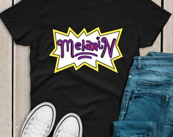 Melanin Rugrats Inspired Black History Unisex Adult Graphic Tee