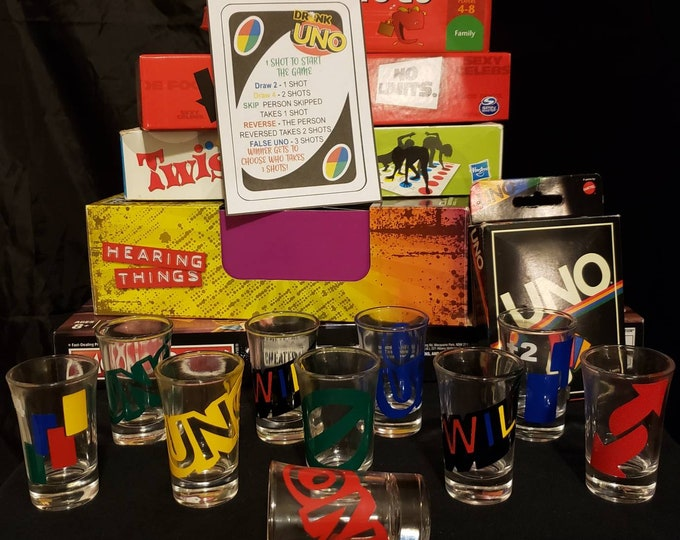 Featured listing image: Drunk UNO Shot Glasses